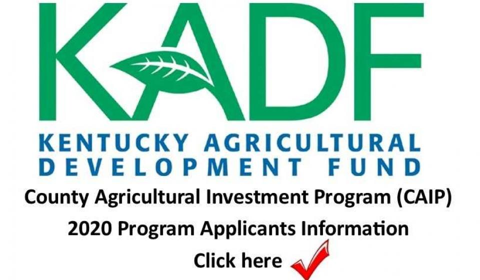 County Agricultural Investment Program Ad
